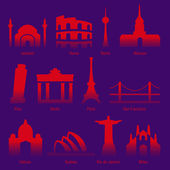 Cities of the world — Stock Vector