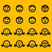 Símbolos de emoticon — Vetorial Stock