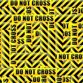 Do not cross inscription tape — Stock Vector