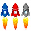 Color rockets — Stock Vector