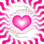 Heart with hands — Stock Vector