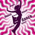 Silhouette of dancing woman — Stock Vector