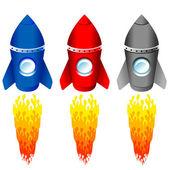 Color rockets — Stock Vector