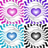 Srdce s rukama — Stock vektor