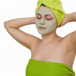 Facial mask for young woman — Stock Photo #5610395