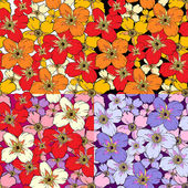 Poppy flower, seamless texture — Stock Vector