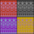 Seamless knitted texture with work path - 