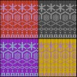 Seamless knitted texture with work path - Stockfoto