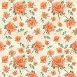 Floral orange rose background — Stock Photo #6211411