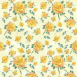 Floral yellow rose background — Stock Photo #6211581