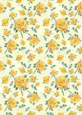 Floral yellow rose background — Stock Photo