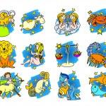 Funny colour zodiac symbols — Stock Vector #6448290