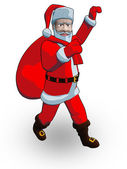 Santa walk — Stock Photo