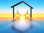 Home and handicap — Stock Photo