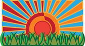 Grass and sun — Stock Vector