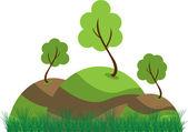 Gröna kullar — Stockvektor
