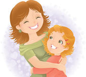 Mothers day greeting illustration. — Стоковое фото