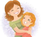 Mothers day greeting illustration. — Stok fotoğraf