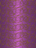 Gold pattern on the purple vintage background — Stock Photo