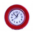 Stock Photo: Red clock.