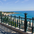 Sea view from the balconi. - Stock Photo