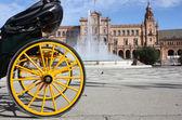 Plaza de españa, em sevilha, andaluzia, espanha — Foto Stock