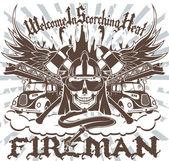Fireman Symbol — Stock Vector