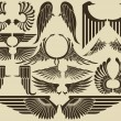 Vector de stock : Vintage Wings