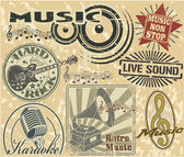 Music stamps set — Stock Vector