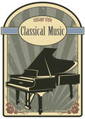 Classical music label — Stock Vector