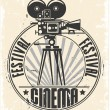 Cinema festival stamp - Stockvectorbeeld