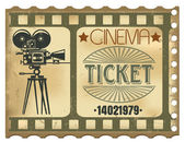 Ticket im kino — Stockvektor