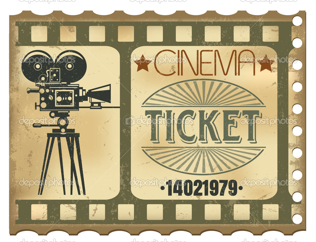 The vector image of a Ticket in cinema — Stock Vector #6307226