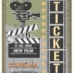 Ticket in cinema — Stock Vector