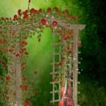 Roses garden — Stock Photo #6148337