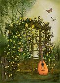Rosor trädgård — Stockfoto