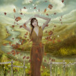 Autumn fairy — Foto Stock