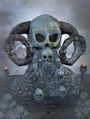 Spooky throne — Stock Photo