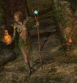 Lanzar un hechizo de brujo — Foto de Stock