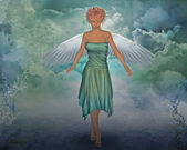 Angel in the sky — Stock Photo