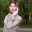 Fasionable asian business woman - Stock Photo
