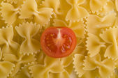Italian pasta farfalle shape — Stock Photo