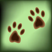 Traces of paws — Stockvektor