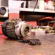Electric motor and chain. — Stock Photo #5923649