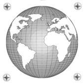 Sketch globe — Stock Photo