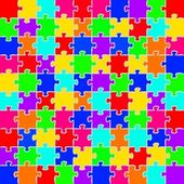Color puzzles background — ストックベクタ