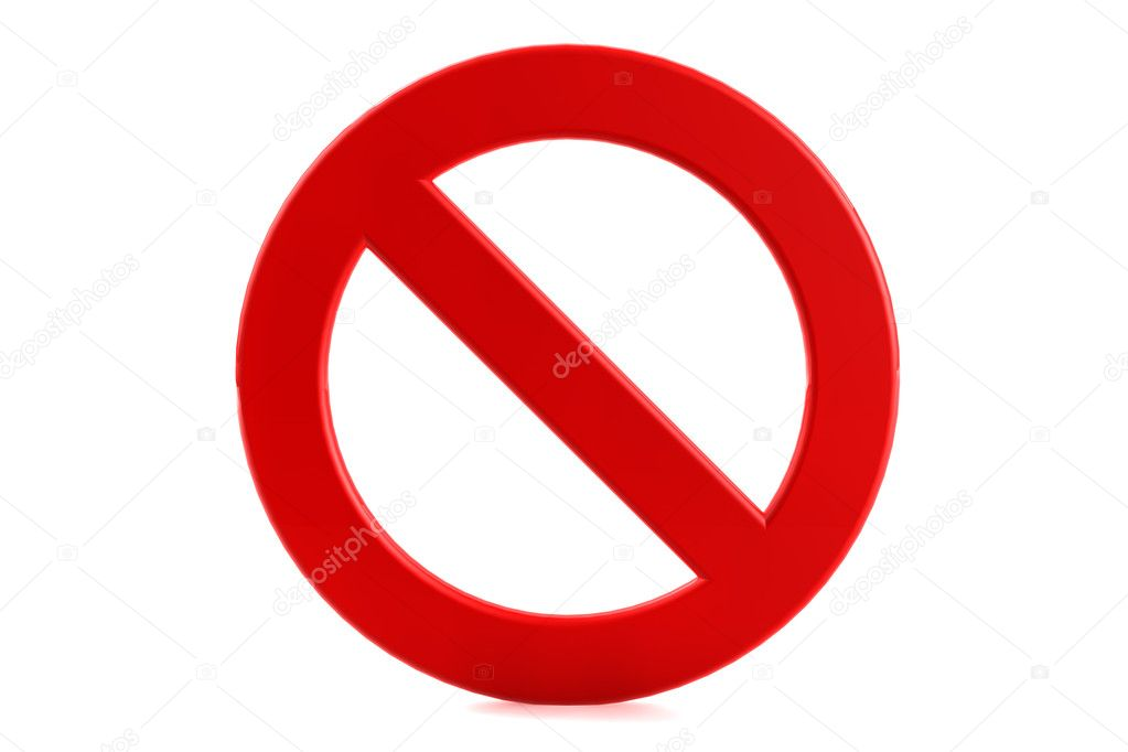 3d render forbidden sign on white background  Foto Stock #6316727
