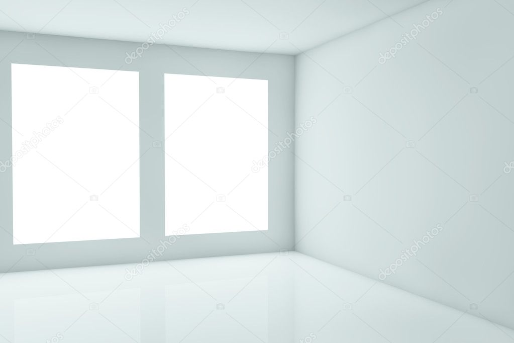 3d rendering of a corner with windows — Stock Photo #6424879