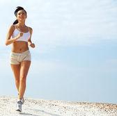 Lady running — Stock Photo