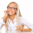 Beautiful business woman - Foto Stock
